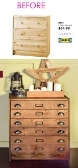 Ikea furniture hacks Cheap Now You Can See Why The Rast Dresser Is One Of The Favorite Ikea Hack Subjects Your Guests Would Never Guess This Vintage Apothecary Chest Originally Came Piece Of Rainbow 20 Smart And Gorgeous Ikea Hacks Great Tutorials Piece Of