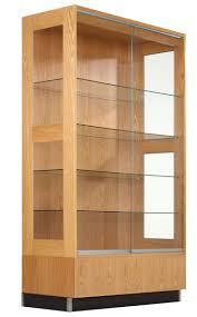 enjoyable wood cabinet glass door maple wood diversified wood crafts premier display cabinet finish