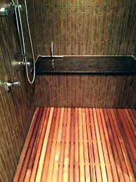 cedar shower wooden floor mat here we come across the teak bench finish