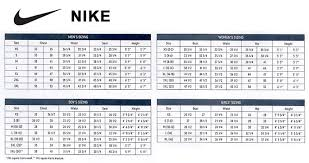 Tag Mens Womens Shoe Size Chart Nike Exhaustive Nike Mens