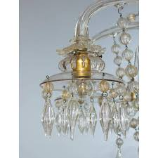 italian murano glass chandelier circa 1950s