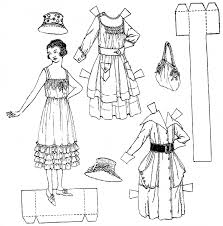 Small Picture Printable Paper Doll Coloring Pages Coloring Me
