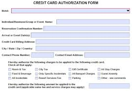 cc auth form hotel credit card authorization form change