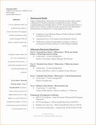 Resume Templates For Teachers Free