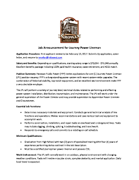 Cover Letter Lineman Power Cover Best Resume And Cover Letter