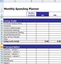 Monthly Expense Tracker Calculator Spending Planner