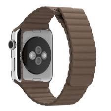 apple watch leather loop light brown