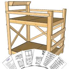 op bunkbed tall height full size bunk bed pine with plans