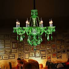 modern crystal chandeliers european green chandelier candle throughout colored glass prepare 13