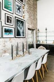check out this industrial brooklyn loft with a california edge dining room