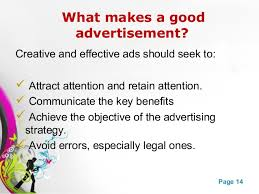 advertising ppt advertising 14 powerpoint templates page 14 what makes a good advertisement