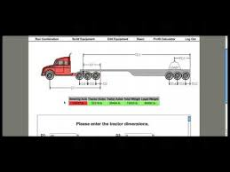 Tractor Trailer Weight Distribution Chart Truck Driving Axle Load Software