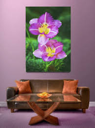 image is loading day lily daylilies purple yellow green art wrap  on purple and green canvas wall art with day lily daylilies purple yellow green art wrap canvas wall art