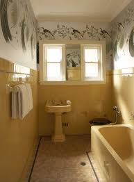 1940 Bathroom Design Beauteous Sunflower Yellow Vintage Bath