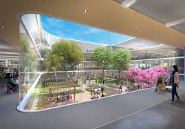 apple new office design. (Courtesy HOK And Landbank) Apple New Office Design L