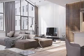 wall bright natural light living room design