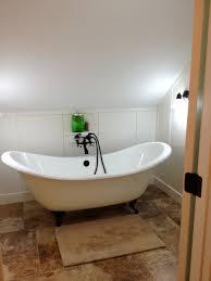 ... Extraordinary Clawfoot Tub Bathroom Design Ideas : Unique Oval Clawfoot  Tub In White Slope Small Bathroom ...