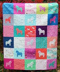 Horse Quilt Pattern Fascinating Saddle Up 48 Horse Quilt Patterns FaveQuilts