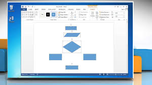 flowchart in word make a flowchart in microsoft word 2013 youtube