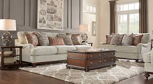 Rooms To Go Cindy Crawford Home Bali Breeze Taupe 3 Pc Living Room  Sets  Beige