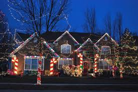 Merry Christmas Light Up Sign For Roof Our Gingerbread House Theme Holiday Light Decoration 2012