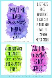 Quotes About Learning For Your Home Classroom The Kitchen Table Unique Quotes About Kids Learning