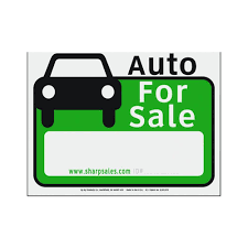 auto for sale sign hy ko 12 in x 13 in plastic auto for sale sign