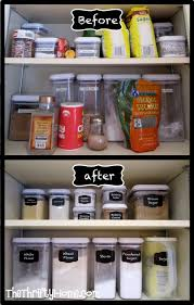 Kitchen Cupboard Organization Kitchen Cupboard Organization With Oxo Containers And Faux Chalk