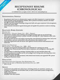 Gallery Of Receptionist Resume Sample Resume Companion Resume