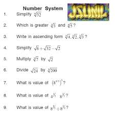 math adda by guru jsunil ix mathematics chap number system question for formative assessments real number