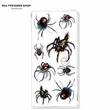 сексуальный черный паук 3d временные татуировки боди арт флэш татуировки наклейки