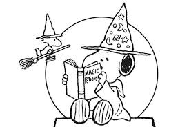 Halloween Coloring Page Very Scary Pages Printouts Cute Peanuts