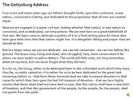 a divided nation the civil war ppt  the gettysburg address
