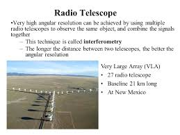 a radio telescope and an optical telescope of the same size have the same angular resolution optics and telescopes chapter six introducing astronomy chap 1 6