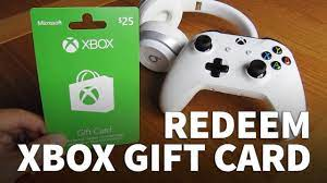 how to redeem xbox gift card on xbox