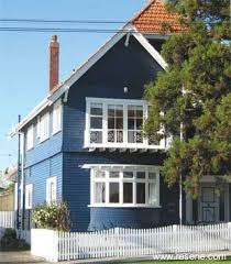 exterior paint color schemes nz. exterior weatherboards finished in resene sonyx 101 coolcolour™ tinted to crescendo (deep blue) complemented by woodwork trims and joinery paint color schemes nz
