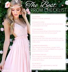 the best prom checklist at lulus