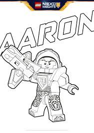 Aaron Coloring Pages Lego Nexo Knights Legocom Us