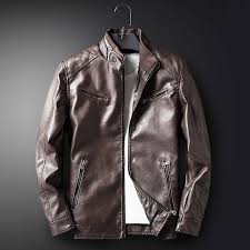 details about mens leisure warm leather biker jacket slim fit motorcycle coat overcoat outwear