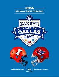 Zaxby S Stock Chart 2014 Zaxbys Heart Of Dallas Bowl Game Program By Espn