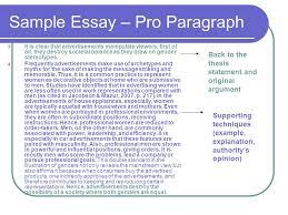 argumentative essay ppt  sample essay pro paragraph