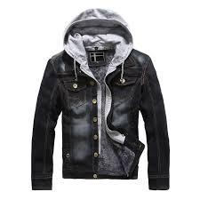men casual retro denim jackets coat warm winter fur regular fit jeans jackets men sherpa lined trucker denim er las leather er jacket light