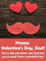 happy valentine s day dad.  Day To A Sweet Dad  Happy Valentineu0027s Day Card For Father On Valentine S