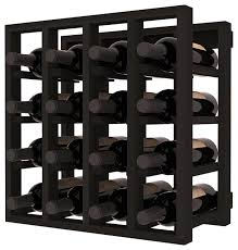 lattice stacking wine cubicle in redwood with black stain rack decor 8 black wine cabinet w99