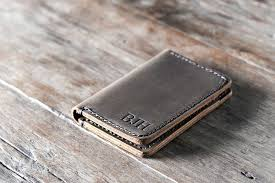 handmade leather wallet womens credit card wallet personalized