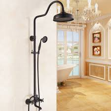 shower spa system oil rubbed bronze wall mount black best bar