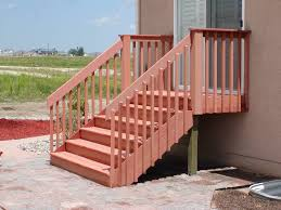 wood deck stair railing ideas latest door design regarding railings for outside stairs