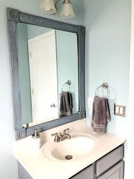 diy bathroom mirror frame one room