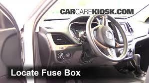 interior fuse box location 2014 2016 jeep cherokee 2014 jeep Jeep Cherokee Fuse Box Removal locate interior fuse box and remove cover jeep cherokee fuse box removal
