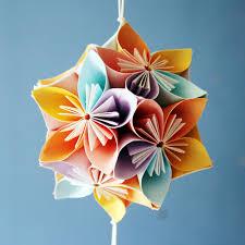 Multicolor Artshelter Origami Japanese Kusudama Flower For